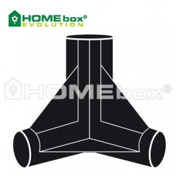 4x Homebox Spare Parts 3 Wege Verbinder 22mm
